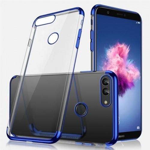 Huawei P Smart Kılıf Lazer Dört Köşe Mavi