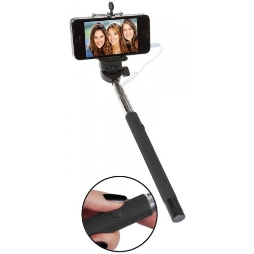 Selfie Çubuğu Universal Kablolu Siyah