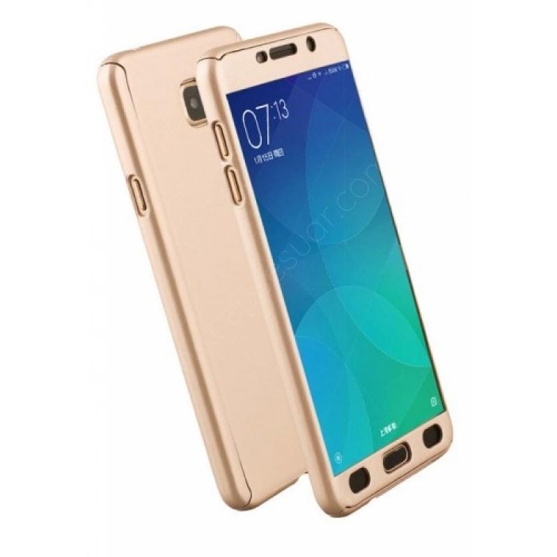Samsung Galaxy A3 2017 Kılıf Gold Tam Koruma Ön Yan ve ...