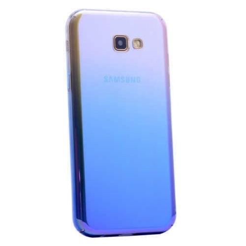 Samsung Glaxy J5 2017 Kılıf Renkli Transparan Kapak Mavi