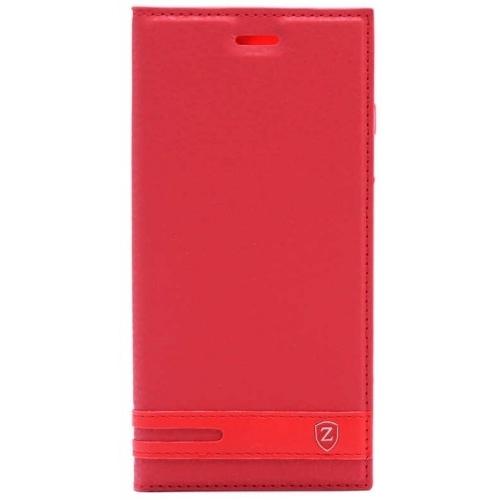 Huawei Y7 Prime 2018 Kılıf Kapaklı Mıknatıslı Elite Kırmızı